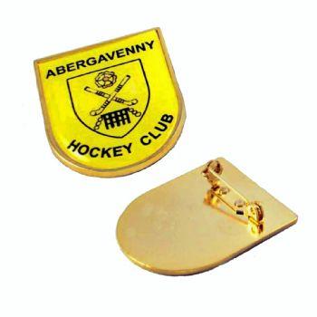 32x39mm premium gold shield badge